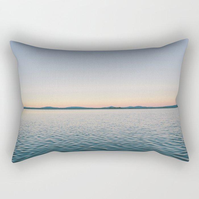Sunset sea landscape Rectangular Pillow