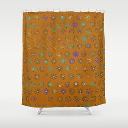 Primitive Sun Print--faded, distressed, tribal Shower Curtain