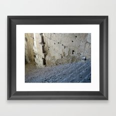 Stairway from the past. Framed Art Print