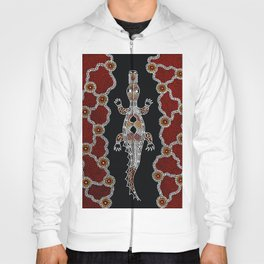 Crocodile - Authentic Aboriginal Art Hoody