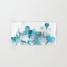Albuquerque Monochrome Blue Skyline Hand & Bath Towel