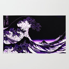 The Great Wave : Purple Rug