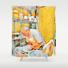 Ceramist craftsman Shower Curtain