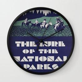 Vintage poster - National parks Wall Clock
