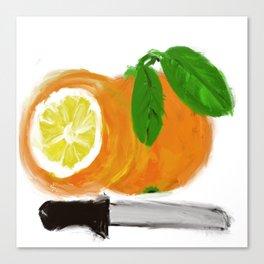 orange with lemon soul Canvas Print