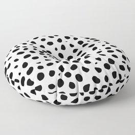 Black And White Cheetah Print Floor Pillow
