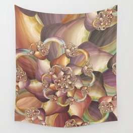Quiescence Floral Fractal Wall Tapestry