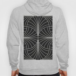 Diamond Series Inter Wave White on Charcoal Hoody