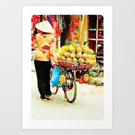 Pineapple Lady in Hanoi Art Print