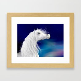 Star Gazer .. fantasy horse Framed Art Print