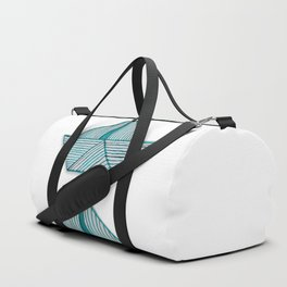 Watercolor turquoise paperboats Duffle Bag