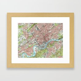 Knoxville Tennessee Map (1978) Framed Art Print