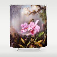 lily Shower Curtains featuring lily by karens designs