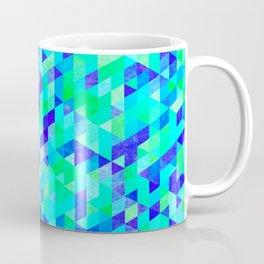 Blue Triangles Coffee Mug