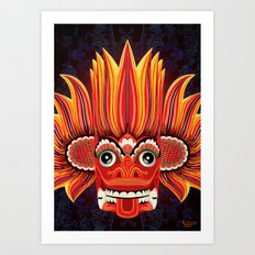 Sri Lankan Fire Demon Art Print