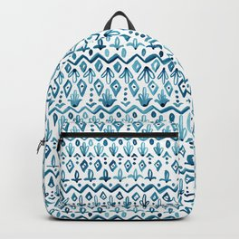 Mya Watercolor - White Backpack