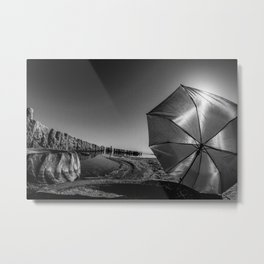 Salton Sea and an Umbrella Metal Print