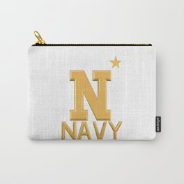 Navy Star Gold Logo Carry-All Pouch