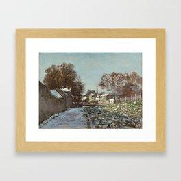Snow at Argenteuil Framed Art Print