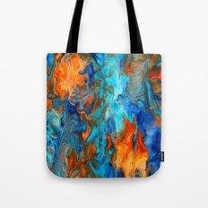 Orange and Teal Tote Bag