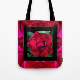 Centered Rose Square Tote Bag