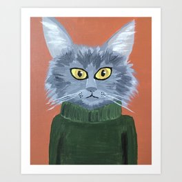 Brando the Cat Art Print