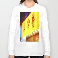 hong kong Long Sleeve T-shirts featuring hong kong by David Stone