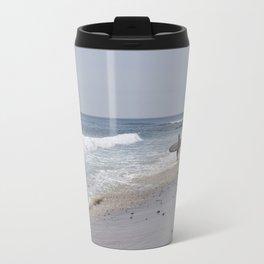 Surfer on the Beach Travel Mug