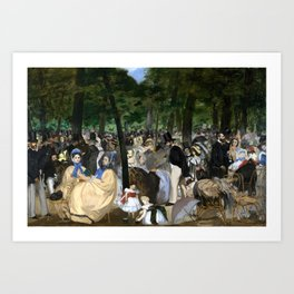 Édouard Manet - Music in the Tuileries Art Print