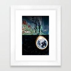 Life on the event horizon 1 Framed Art Print