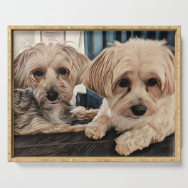 Penny and Copper Dogs Art Serving Tray