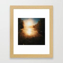 Slow Change Rising Framed Art Print