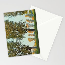 Golden october by the rhine Stationery Cards