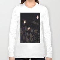 chandelier Long Sleeve T-shirts featuring Chandelier Shadows by Elyse Victoria