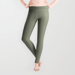 Pastel Sage Green Solid Color Pairs To Dunn & Edwards Flagstone Quartzite DET517 Leggings