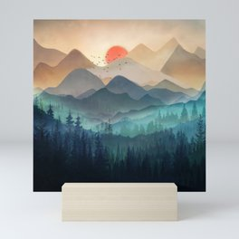 Wilderness Becomes Alive at Night Mini Art Print