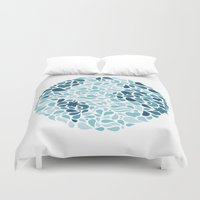 globe Duvet Covers featuring Beautiful Globe by Jessie Steury