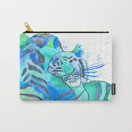 Cuddling Tigers - Tropical Turquoise Carry-All Pouch