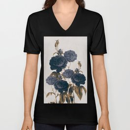 blue flowers Unisex V-Neck