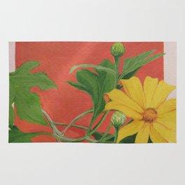 Winter blooming sun flower Rug
