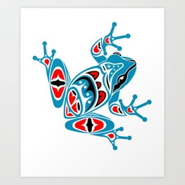 Frog Pacific Northwest Native American Indian Style Art Art Print