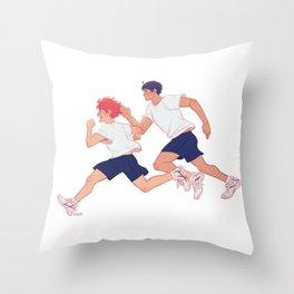 run boys run Throw Pillow