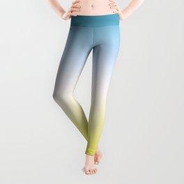 Blue White Yellow Gradient Leggings