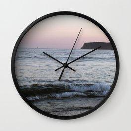 Coronado Island California beach at sunset pastel colors Wall Clock