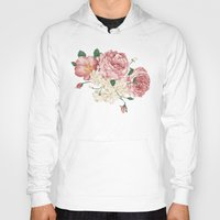 wwe Hoodies featuring Watercolor rose by eARTh