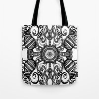 running Tote Bags featuring Running by GBret