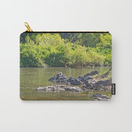 Beautiful rocks in the tranquil river Carry-All Pouch