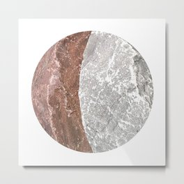 Planetary Bodies - Crescent Rock Metal Print