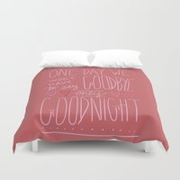 valentine Duvet Covers featuring Valentine by Hope Palattella