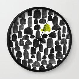 Turtle in Stone Garden Wall Clock